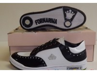 FORNARINA SCARPE DONNA MODELLO STYLE TG 36 ORIGINAL BIANCA E NERA WALKING SPORT