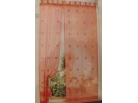 TENDA ORGANZA QUADRI CON BRETELLE 110X280 CM COTONE HOME COLLECTION VARI COLORI