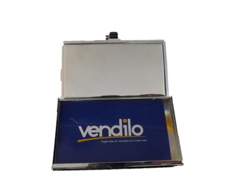 8661136b8c ... PORTA BIGLIETTI DA VISITA IN METALLO MODELLO VINTAGE PORTA TESSERE IDEA  REGALO ...