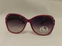OCCHIALI DA SOLE HELLO KITTY LILLA HE013-11 LENTI ROSSE 100%UV CAT3 SANRIO BIMBA