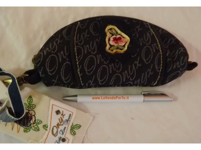 Astuccio scuola vuoto ONYX originali nero portapenne portatutto borsello bustina
