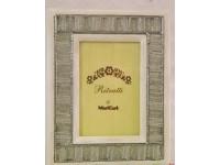 Cornice portafoto legno ferro e perline da tavolo per foto stampe complemento ar