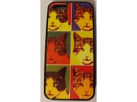 COVER PER IPHONE 5 5S APPLE IN GOMMA GRAFICA UNICA GATTI Andy Warhol