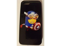 COVER PER IPHONE 5 5S CUSTODIA APPLE IN GOMMA GRAFICA UNICA MINION CAPITAN AMERICA