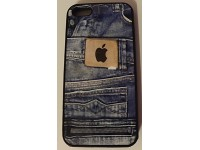 COVER PER IPHONE 5 5S APPLE IN GOMMA GRAFICA UNICA JEANS