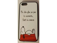 COVER PER IPHONE 5 5S CUSTODIA APPLE IN GOMMA GRAFICA UNICA SNOOPY