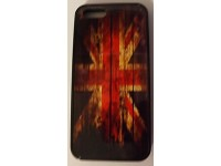 COVER PER IPHONE 5 5S CUSTODIA APPLE IN GOMMA GRAFICA UNICA BANDIERA INGLESE