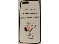 COVER PER IPHONE 5 5S CUSTODIA APPLE IN GOMMA GRAFICA UNICA LE FRASI DI SNOOPY