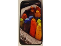 COVER PER IPHONE 5 5S CUSTODIA APPLE IN GOMMA GRAFICA UNICA COLORI CERA