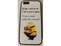 COVER PER IPHONE 5 5S CUSTODIA APPLE IN GOMMA GRAFICA UNICA LE FRASI DEI MINION