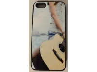 COVER PER IPHONE 5 5S CUSTODIA APPLE IN GOMMA GRAFICA CHITARRA MUSICA
