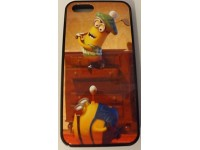 COVER PER IPHONE 5 5S CUSTODIA APPLE IN GOMMA GRAFICA MINION GOLF SPORT