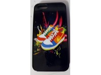 COVER PER IPHONE 5 5S CUSTODIA APPLE IN GOMMA GRAFICA SCARPE NIKE