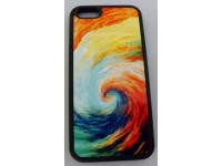 COVER PER IPHONE 6 / 6S CUSTODIA APPLE IN GOMMA GRAFICA UNICA FANTASY DI COLORI