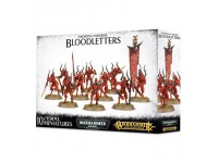 WARHAMMER AGE OF SIGMA DAEMONS OF KHORNE BLOODLETTERS GAMES WORKSHOP 10 MINIATURES