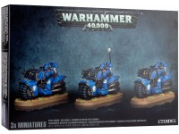 WARHAMMER 40000 SQUADRA SPACE MARINE MOTOCICLISTI GAMES WORKSHOP
