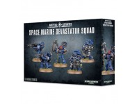 WARHAMMER 40000 SQUAD DEVASTATOR SPACE MARINE GAMES WORKSHOP 5 MINIATURES