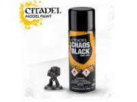 2 PEZZI WARHAMMER CITADEL SPRAY BASE NERA CHAOS BLACK GAMES WORKSHOP 2 PEZZIEZZI