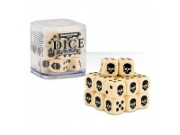 SET DI 20 DADI COLORATI BIANCO OSSO NEL CUBO CLASSICI Warhammer 40000 GAMES WORKSHOP Age of Sigma