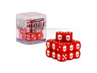 SET DI 20 DADI COLORATI ROSSI NEL CUBO CLASSICI Warhammer 40000 GAMES WORKSHOP Age of Sigma