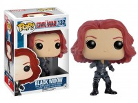 Funko Capitan America Civil War POP Marvel Vinile Figura Black Widow 10 cm