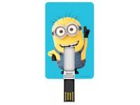 TRIBE MINIONS CHIAVETTA USB 8 GB 2.0 MEMORY CARD SLIM COMPATTA