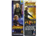 AVENGERS INFINITY WAR MARVER FIGURE BLACK WIDOW 30 CM TITAN HERO POWER FX