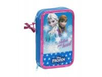 Astuccio porta penne Scuola Frozen Regina delle Nevi 34 pcs. 13x20 cm Safta