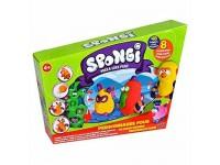 Dido Spongi 2 - Personaggi Pazzi Pongo/plastica Colorato Crea e Modella Gioco