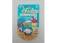 Palla Crazy Bouncer Capelli Flessibili ed Elastici Blu Verde [Giocattolo]