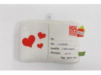Peluche Cuscino Mini Cartolina con Ventosa 27 x 20 cm