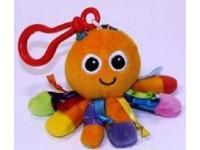 LAMAZE - Portachiavi Peluche Polipo arancione con sonaglio