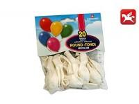 Pegaso Confezione Palloncini Medium Bianco 20 Pezzi tondi