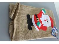 COMO GIOCHI - Sacco di Babbo Natale in Juta con disegno cm 60x90