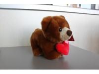 Plush Company 05129 - Orsetto marrone con cuore 20cm Peluche
