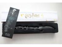 Harry Potter Bacchetta Magica - Mangiamorte Con Segnalibro 3d Noble Collection