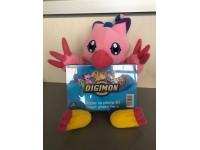 Digimon - Peluche Digimon Biyomon rosa con cornice davanti 20cm