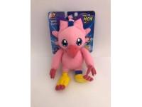 Digimon - Peluche Digimon Biyomon rosa con ventose nelle zampe superiori 20cm