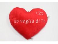 """Peluche Cuore da Appendere """"Ho Voglia di Te"""" 50 x 45 cm"""