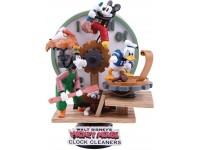 Mickey Mouse Statua Pulizia dell'Orologio Diorama Figura 16 cm Beast Kingdom
