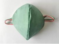 Mascherina protettiva Set 5 pz in Cotone (NO DPI) Verde Riutilizzabile