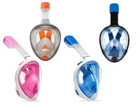 Maschera Mare Viso Intero con Boccaglio per Adulti, Misura L/XL Multicolore