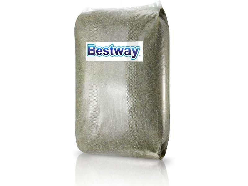 Sabbia di Vetro 0.5 a 1 mm per Piscina Sacco da 25 Kg Bestway 58196