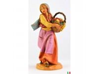 Fontanini 389 - Statuina Presepe: Pastore con Frutta Resina 12 cm