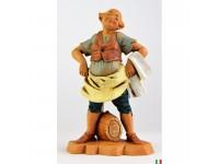 Fontanini 429 - Statuina Presepe: Pastore con Botte Resina 12 cm