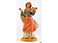 Fontanini 4815 - Statuina Presepe: Pastorelle con Lira Resina 12 cm