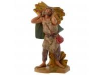 Fontanini 401 - Statuina Presepe: Pastore con Fascina Resina 12 cm