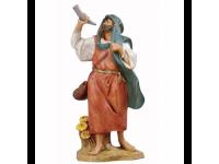 Fontanini 4130 - Statuina Presepe: Pastore con Corno Resina 12 cm