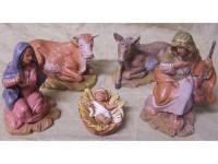 Fontanini 3948 - Statuine Presepe: Personaggi per Presepe 5 Pezzi Resina 12 cm