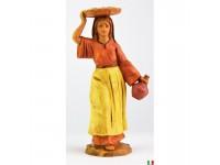 Fontanini 2512 - Statuina Presepe: Pastorella con Vassoio Resina 12 cm